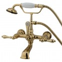 Kingston Brass CC5 Vintage Wall Mount Clawfoot Tub Filler w/ metal lever