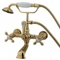 Kingston Brass CC5 Vintage Wall Mount Clawfoot Tub Filler w/ metal cross