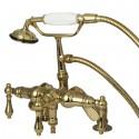 Kingston Brass CC6 Vintage Deck Mount Clawfoot Tub Filler w/ metal lever