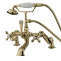Kingston Brass CC65 Vintage Deck Mount Clawfoot Tub Filler w/ metal cross
