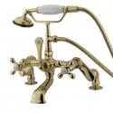 Kingston Brass CC65 Vintage Deck Mount Clawfoot Tub Filler w/ metal cross
