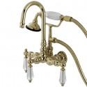 Kingston Brass AE7T Aqua Eden Wilshire Wall Mount Clawfoot Tub Faucet