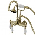 Kingston Brass AE7T Aqua Eden Wilshire Wall Mount Clawfoot Tub Faucet