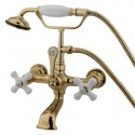 Kingston Brass CC559T Vintage Wall Mount Clawfoot Tub Filler with Hand Shower