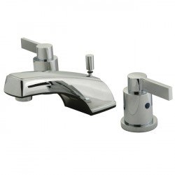 "Kingston Brass KB8921NDL NuvoFusion Double Handle 4"" to 16"" Widespread Lavatory Faucet with Brass Pop-up"