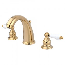 Kingston Brass GKB98 Water Saving English Country Widespread Lavatory Faucet w/ lever handles