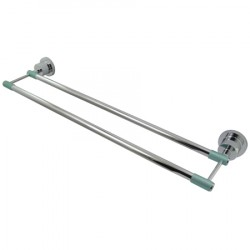 Kingston Brass BA821 Green Eden 24-inch Dual Towel Bar w/ Neoprene Sleeve