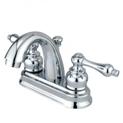 Kingston Brass GKB561 Water Saving Restoration Centerset Lavatory Faucet w/ Metal Lever Handles