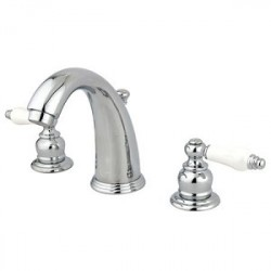 Kingston Brass GKB981PL Water Saving English Country Widespread Lavatory Faucet, Chrome