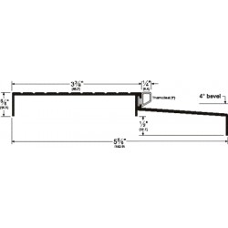 Pemko 153 Bumber Threshold Sill for Outswinging Doors