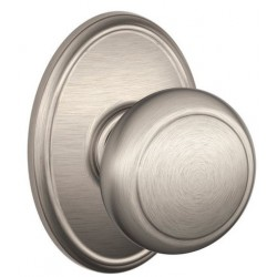 Schlage Residential F40 AND 619 WKF Andover Door Knob with Wakefield Decorative Rose