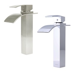 Dyconn VS1H36 Lune & Wye Polished Chrome Vessel Bathroom Faucet