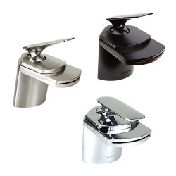 Dyconn WF003 Yosemite, Crystal & Marble Oil Rubbed Bronze Waterfall Bathroom Faucet