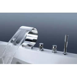Dyconn BTF47-CHR Swallow 4 Hole Roman Tub Filler W/ Matching Hand Shower For Tub & Jacuzzi