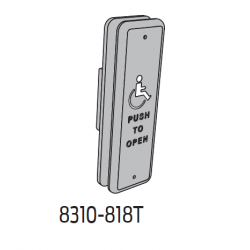 "Falcon 8200 Series 1-1/2"" x 4-3/4"" Jamb - Text w/ Logo"
