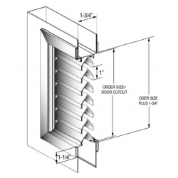 CAL-Royal VLV Inverted Y-Blade Louvers 90 Minute Fire Rated Steel Louvers