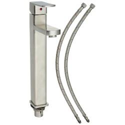 """BOANN BNYBF-M05-3S Heidi 304 Stainless Steel Bathroom Faucet, 13.8"""""""