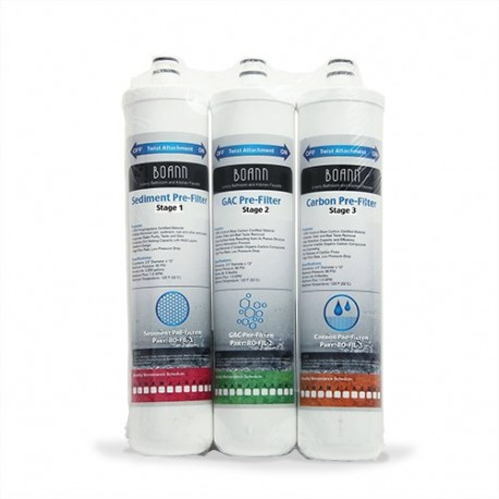 BOANN RO-6MPK 6 Month Filter Pack for RO Water Filtration System