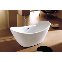 Dyconn DYF-WTM-02701-R Siena 5.7 ft. Acrylic Slipper Flatbottom Non-Whirlpool Bathtub in White