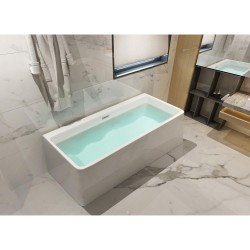 Dyconn DYF-WTM02502SR Treviso 5.5 ft. Acrylic Slipper Flatbottom Non-Whirlpool Bathtub in White