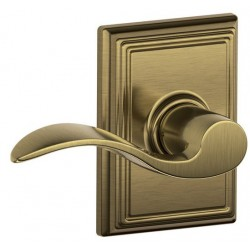 Schlage Accent Door Lever with Addison Decorative Rose