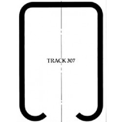 Pemko 307/ Steel Track for Sliding and Folding Doors