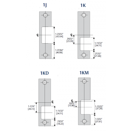 Hes Faceplates Specialty Option Kits For 1006 Series Electric Strikes