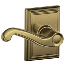 Schlage FLA ADD Flair Door Lever with Addison Decorative Rose