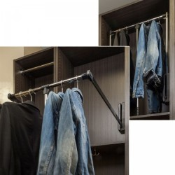 """Hardware Resources Soft-Close 25-1/2"""" Expanding to 35"""" Wardrobe Lifter"""