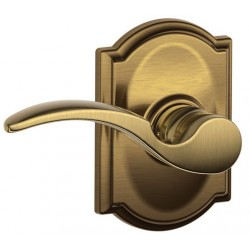 Schlage St. Annes Door Lever with Camelot Decorative Rose