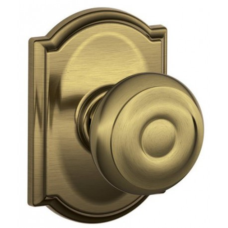 Schlage Georgian Door Knob with Camelot Decorative Rose