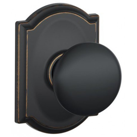 F10 PLY 613 CAM Plymouth Door Knob with Camelot Decorative Rose