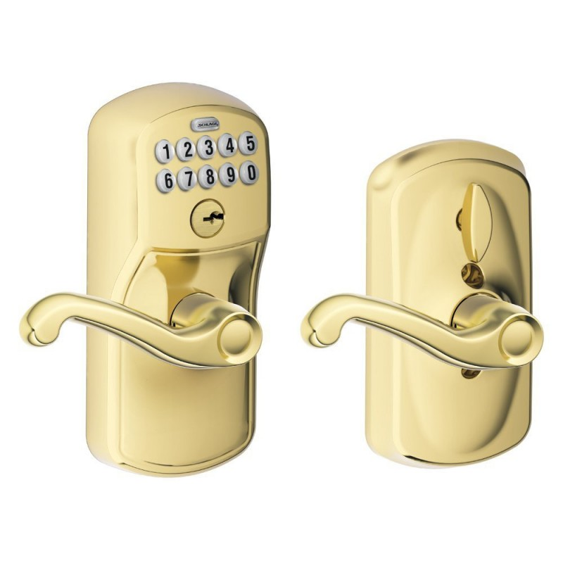 Schlage Fe595 Plymouth Keypad Entry Lock With Flair Lever