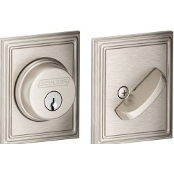 Schlage B60 Single Cylinder Deadbolt with Addison Decorative Rose