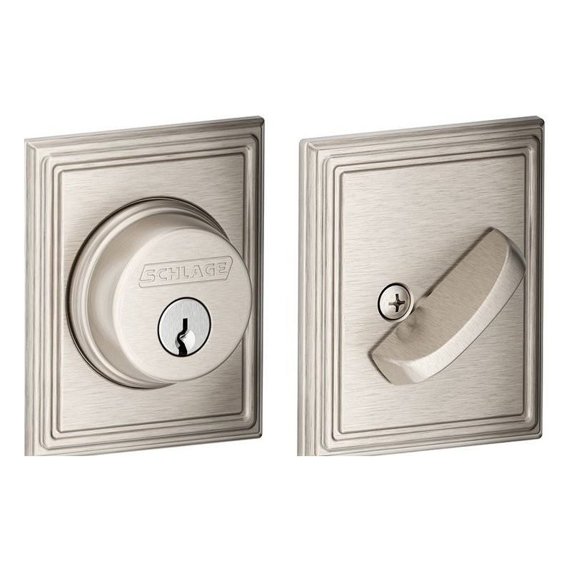 Schlage B60 Single Cylinder Deadbolt With Addison