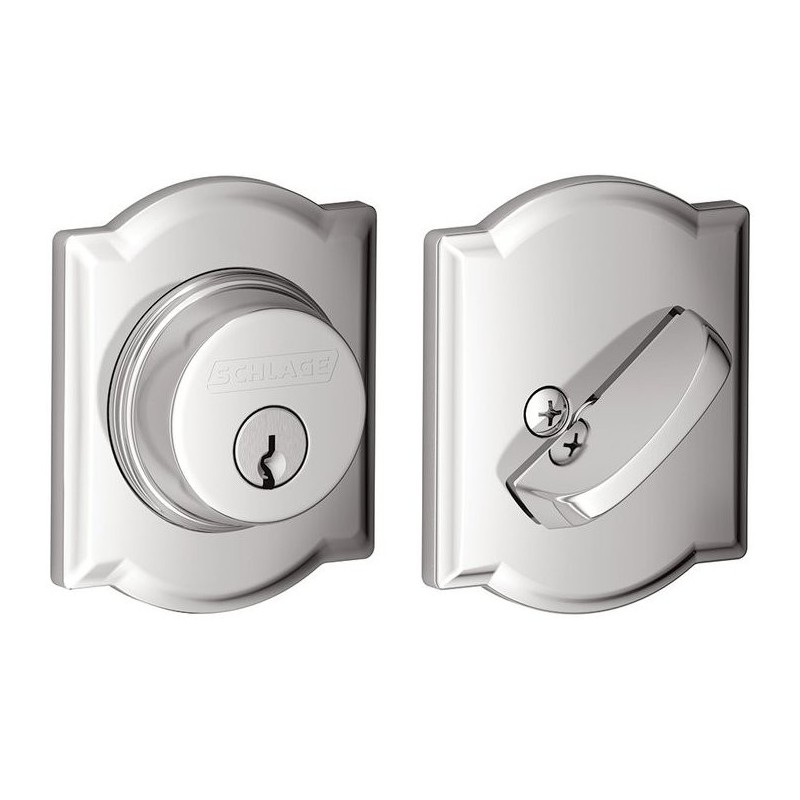 Schlage B60 Single Cylinder Deadbolt With Camelot