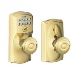Schlage Camelot Keypad Entry Lock with Georgian Knob and Flex Lock