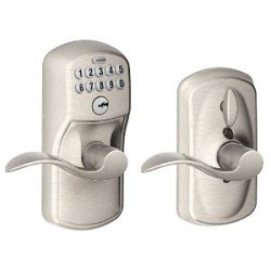 Schlage Plymouth Keypad Entry Lock with Accent Lever and Flex Lock
