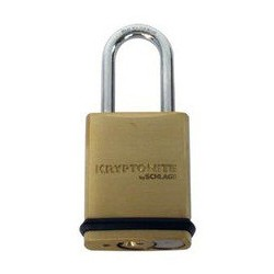 "KS43 Schlage Portable Security Brass Padlock 1-15/16"""