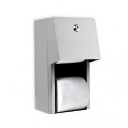 AJW Commercial Washroom Accessories U840 Hooded Steel Dual Toilet Tissue Paper Dispenser