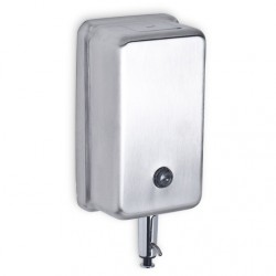 AJW Commercial Washroom Accessories U127 40oz Vertical Liquid Soap Dispenser w/ Push-up Valve - Surface Mounted