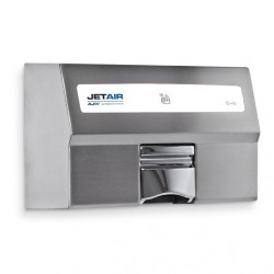 AJW U1521EA JETAIR Automatic Touchless 120/230 Volt Hand Dryer, Satin Finish - Surface Mounted