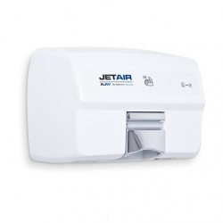 AJW U1525EA JETAIR Automatic Touchless 120 Volt Hand Dryer, White Powder Coat - Surface Mounted