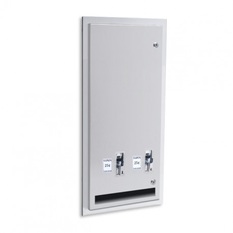 AJW U526 High Capacity Feminine Napkin / Tampon Dispenser