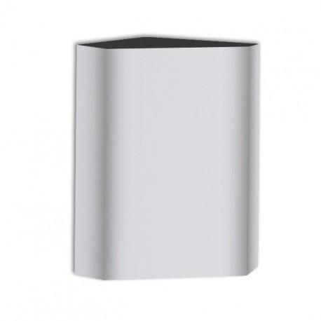 AJW U466 13.5 Gallon Corner Waste Receptacle - Surface Mounted