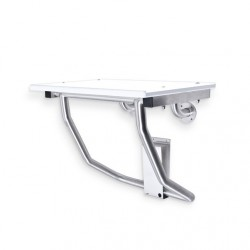AJW U939 Retractable ADA Compliant Shower Bench - Surface Mounted