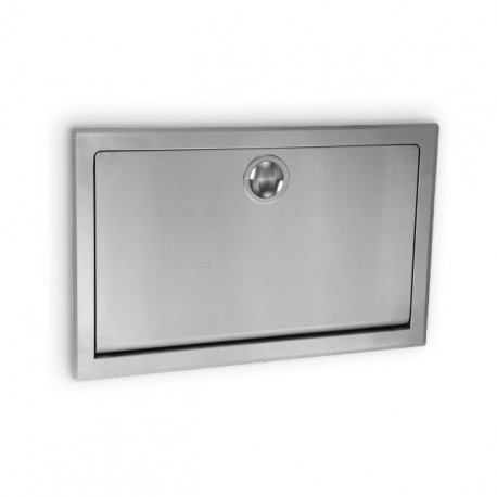 AJW Commercial Washroom Accessories U984 X Horizontal Fold Down Stainless  Steel Baby Changing Station   Grey