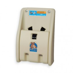 AJW U987 Koala Kare Fold Down Polypropylene Child Protection Station - Cream - Surface Mounted
