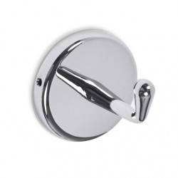 AJW Commercial Washroom Accessories UB16 Bright Chrome Surface Mounted Coat Hook w/ Set-Screw Mounting