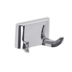 AJW Commercial Washroom Accessories UC12 Bright Chrome Surface Mounted Dual Zamac Robe Hook